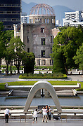 Hiroshima Peace park and A-bomb monuments
