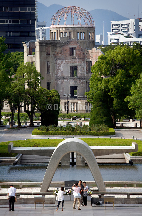 Hiroshima Peace park and A-bomb monuments