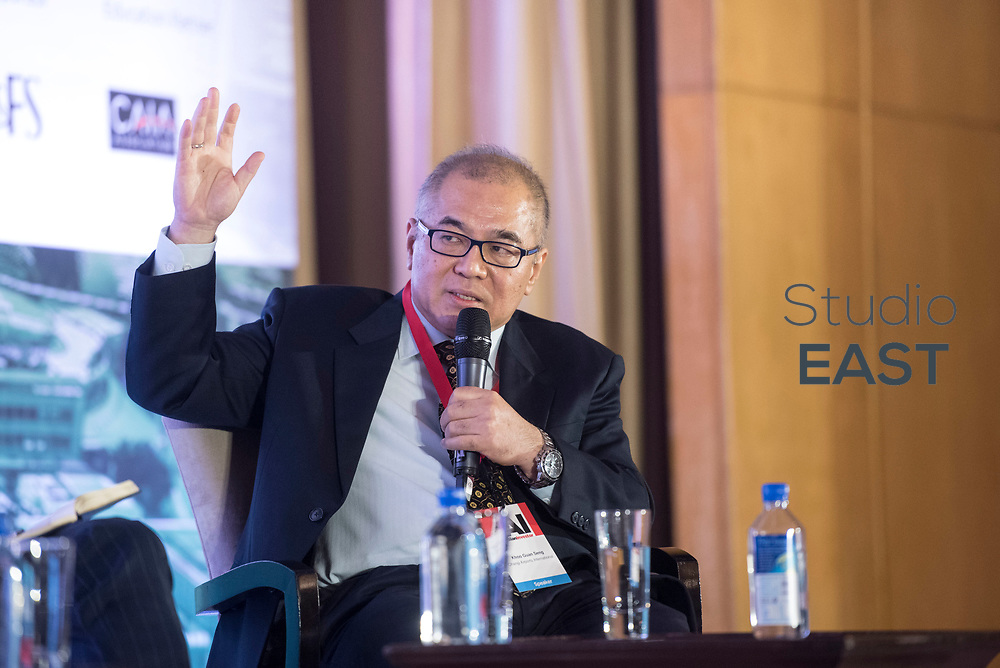 "Panel discussion ""Time to revisit alternative investments"" moderated by Richard Morrow during the 9th Annual Southeast Asia Institutional Investment Forum, at the Ritz-Carlton Millenia, Singapore, Singapore, on 7 December 2017. Photo by Steven Lui"