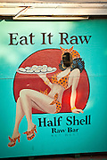 Half Shell Raw bar & restaurant and wall mural Key West, Florida.