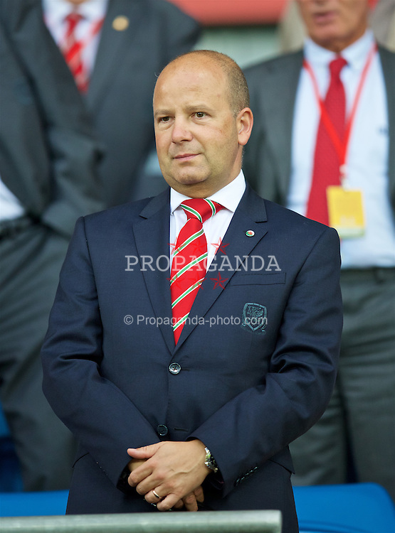CARDIFF, WALES - Monday, September 5, 2016: FAW Chief-Executive Jonathan Ford before the 2018 FIFA World Cup Qualifying Group D match between Wales and Moldova at the Cardiff City Stadium. (Pic by David Rawcliffe/Propaganda)