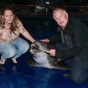 NLD/Harderwijk/20130515 - Premiere Aqua Bella show Dolfinarium Harderwijk, Peter Jan Rens en partner Virginia