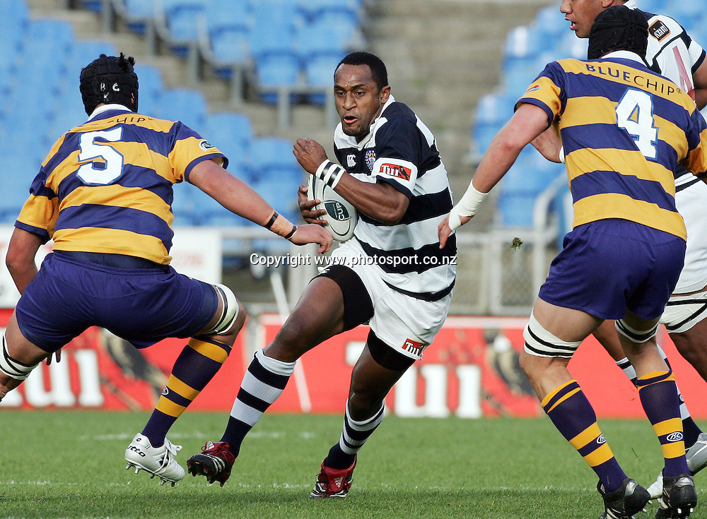 Joe Rokocoko in action during the Air NZ Cup rugby match between Auckland and Bay of Plenty at Eden Park, Auckland, New Zealand on 7 October, 2006. Auckland won the match 47 - 14. Photo: Hannah Johnston/PHOTOSPORT<br />