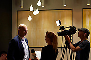 Warsaw, Poland - 2018 June 12: Wojciech Kowalewski speaks while TV interview during Novotel Football Night at Novotel Hotel on June 12, 2018 in Warsaw, Poland.<br /> <br /> Adam Nurkiewicz declares that he has no rights to the image of people at the photographs of his authorship.<br /> <br /> Picture also available in RAW (NEF) or TIFF format on special request.<br /> <br /> Any editorial, commercial or promotional use requires written permission from the author of image.<br /> <br /> Image can be used in the press when the method of use and the signature does not hurt people on the picture.<br /> <br /> Mandatory credit:<br /> Photo by © Adam Nurkiewicz / Mediasport