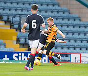 Alloa Athletic's Craig Malcolm fires his side ahead 1-0 - Dundee under 20s v Alloa Athletic in the Irn Bru Cup Round 1 at Dens Park, Dundee - photograph by David Young<br /> <br />  - &copy; David Young - www.davidyoungphoto.co.uk - email: davidyoungphoto@gmail.com