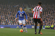 Everton midfielder Ross Barkley during the Barclays Premier League match between Everton and Sunderland at Goodison Park, Liverpool, England on 1 November 2015. Photo by Simon Davies.