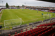 General stadium view during the Vanarama National League first leg play off match between Dagenham and Redbridge and Forest Green Rovers at the London Borough of Barking and Dagenham Stadium, London, England on 4 May 2017. Photo by Shane Healey.