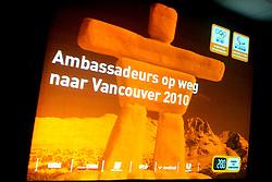 08-05-2009 ALGEMEEN: AMBASSADEURS OS 2010 VANCOUVER: ARNHEM<br /> NOC*NSF heeft vandaag tijdens een teambijeenkomst op Papendal met alle potentiele sporters voor Vancouver met trots de ambassadeurs van het Nederlands Olympisch Team en het Nederlands Paralympisch Team voor de spelen van Vancouver 2010 gepresenteerd / Logo OS<br /> ©2009-WWW.FOTOHOOGENDOORN.NL