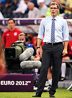Fotball , 11. juni 2012 , Euro , England - Frankrike<br /> Trainer Laurent Blanc (Frankreich)<br /> Norway only
