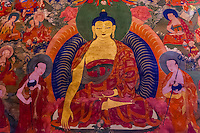 Buddhist art, Hemis Monastery, Ladakh, Jammu and Kashmir State, India.