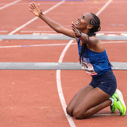 20-10-2019: Atletiek: TCS Amsterdam Marathon: Amsterdam,  finish Olympische Stadion, Tigist Girma (ETH)