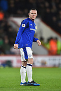Wayne Rooney (10) of Everton during the Premier League match between Bournemouth and Everton at the Vitality Stadium, Bournemouth, England on 30 December 2017. Photo by Graham Hunt.