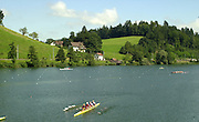 2001 World Rowing Championships, Lucerne, SWITZERLAND, Lake Rotsee, GV, © Peter Spurrier/Intersport-Images Tel +44 7973 819 551 email images@intersport-images.com. Rowing Course, Lake Rottsee, Lucerne, SWITZERLAND. 20010819 FISA World Rowing Championships, Lucerne, SWITZERLAND