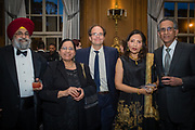 From left, Dr. Jagjit Teji, Dr. Ranjit Teji, Dr. Charles Bower, Sakina Shirazi and Dr. S.J. Shirazi at Mercy Hospital & Medical Center's 51st Dinner Dance Gala. The event took place at the Hilton Chicago on September 28, 2018. Dr. Robert M. Gasior and Honorable Patrick Huels were honored at the event, emceed by Kristen Nicole, anchor at Fox 32 Chicago. Proceeds will benefit Cardiovascular Services including screening, intervention, rehabilitation, wellness and prevention programs for patients and families. (Photo:Natalie Battaglia)