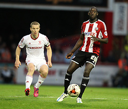 Brentford's Toumani Diagouraga - Photo mandatory by-line: Robbie Stephenson/JMP - Mobile: 07966 386802 - 08/05/2015 - SPORT - Football - Brentford - Griffin Park - Brentford v Middlesbrough - Sky Bet Championship