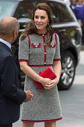 © Licensed to London News Pictures. 29/06/2017. London, UK. The Duchess of Cambridge arrives to tour the V&A Exhibition Road Quarter's new spaces including The Sackler Courtyard, The Blavatnik Hall and The Sainsbury Gallery. Photo credit: Ray Tang/LNP