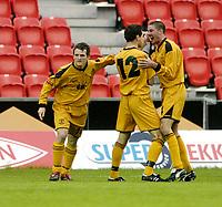 Fotball, UEFA-Cup, 02 August 2007, Brann - Carmarthen Town, Carmarthen jubler etter scoring.<br /> <br /> Foto: Kjetil Espetvedt, Digitalsport.