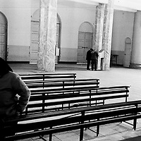 DONGLU, 11 MARCH 2001:an elderly woman leaves the church after mass. China cut relations with the Vatican in the early fifites and since then, established a Patriotic catholic Church that's controlled by Chinese authorities.<br />Catholics who refused to give up their ties with the Vatican, started worshipping in underground churches and consequently were persecuted for a long time. Since the late nineties though, relations with the Vatican informally started to improve. Although China still has no diplomatic relations, many representatives from official churches met the pope John Paull II secretely . The Vatican, under the pope's leadership, has made several efforts to recover the tie with China. In February 2006 , Hong Kong Bishop Joseph Zen was named one of the first 15 new cardinals, which is seen by many as a gesture of goodwill and a significant step towards recovering the Vatican-China relationship.