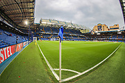 A general view of Stamford Bridge Stadium prior to the Europa League semi final second leg match between Chelsea and Eintracht Frankfurt at Stamford Bridge, London, England on 9 May 2019.