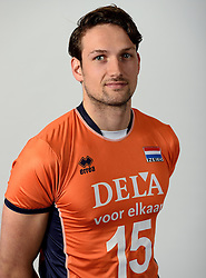 13-05-2014 NED: Selectie Nederlands volleybal team mannen, Arnhem<br /> Op Papendal werd het Nederlands team volleybal seizoen 2014-2015 gepresenteerd / Thomas Koelewijn