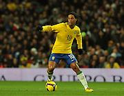 Ronaldinho in action.Brazil v Italy, 10-02-2009
