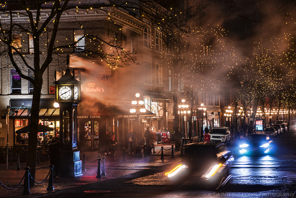 Gastown Steam Clock, Water Street