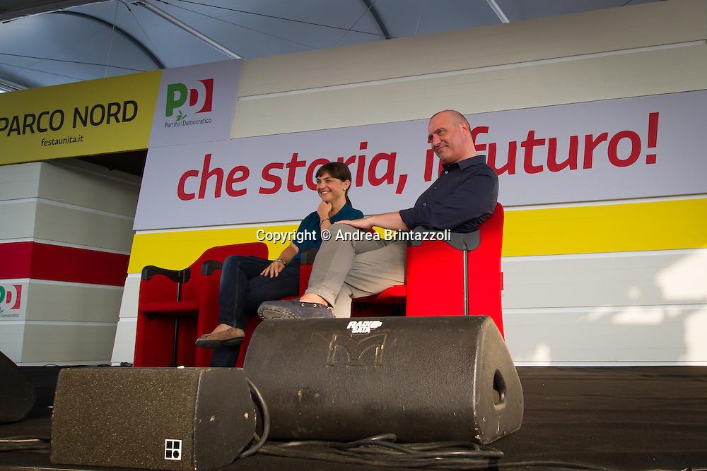 Bologna 27 Agosto 2014 - Inaugurazione Festa Nazionale de L'Unit&agrave;. Che storia, il futuro!<br /> Nella foto: Debora Serracchiani, Stefano Bonaccini