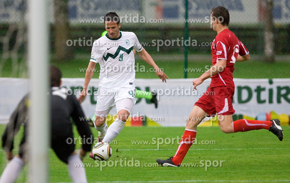 Zlatan Ljubijankic of Slovenia at football match between National team of Slovenia and FC Sud Tirol  on May 29, 2010, at Sports park Riscone, in Brunico / Bruneck, Italy. Slovenia won 3-0. (Photo by Vid Ponikvar / Sportida)
