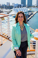 Christine Duffy standing on board cruise ship in Miami