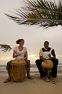 Garifuna Culture, Drumming Lessons. Hopkins, Belize.