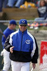 27 March 2005<br /> <br /> Creighton Head Coach Ed Servais.<br /> <br /> Illinois State Redbirds V Creighton Bluejays.  Missouri Valley Conference. Redbird Field, Illinois State University, Normal Illinois