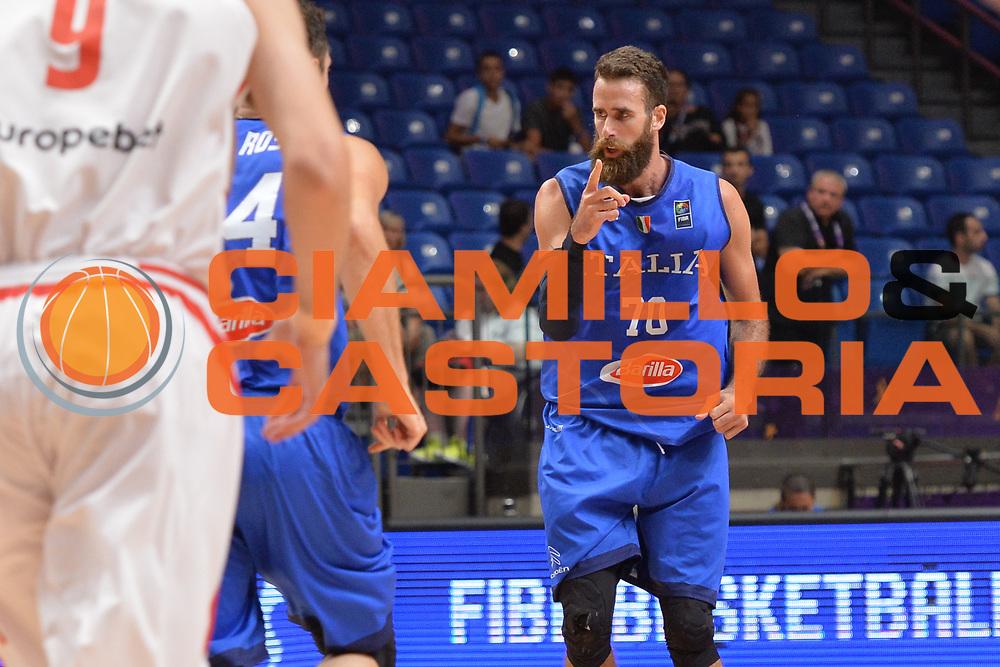 Luigi Datome<br /> Nazionale Italiana Maschile Senior<br /> Eurobasket 2017 - Group Phase<br /> Georgia - Italia<br /> FIP 2017<br /> Tel Aviv, 02/09/2017<br /> Foto Ciamillo - Castoria/ M.Longo