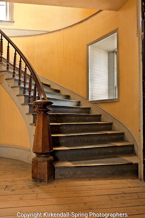 MT00049-00...MONTANA - Staircase at Hotel Meade in the historic ghost town of Bannack; now part of Bannack State Park.