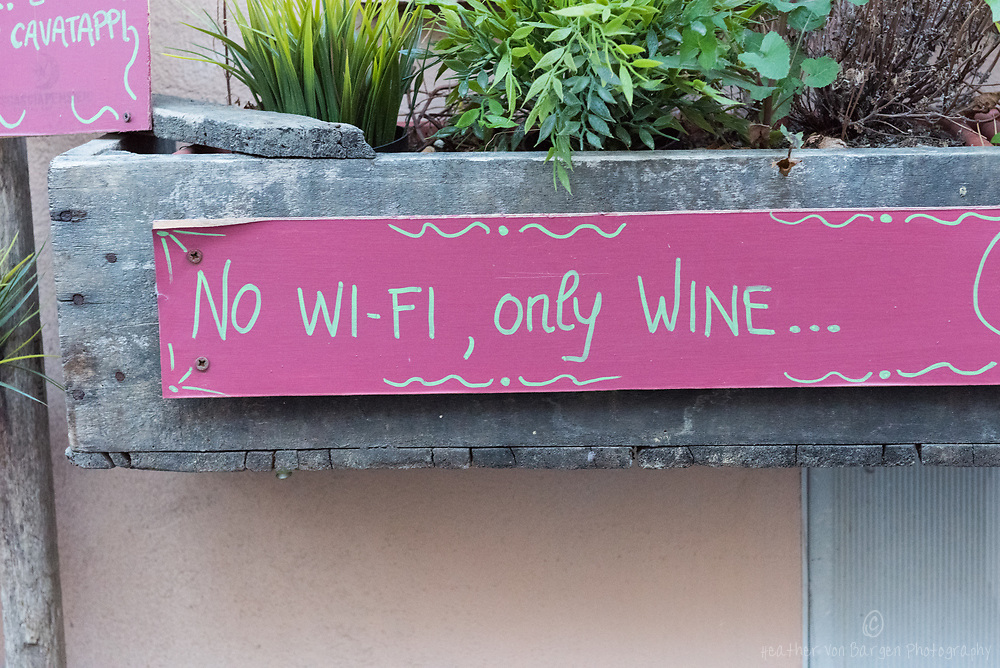 No Wi-Fi, only Wine