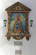 Ceramic tiles image of Virgin de la Oliva, Church of Divino Salvador, Vejer de la Frontera, Cadiz Province, Spain
