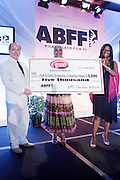 Miami Beach, Florida, NY-June 23: (L-R) Brad Seigel, VP, Gmc, Actress  DeEtta West and Director Nzinga Kadalie Kemp attends the 2012 American Black Film Festival Winners Circle Awards Presentation held at the Ritz Carlton Hotel on June 23, 2012 in Miami Beach, Florida (Photo by Terrence Jennings)
