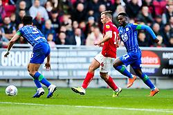 Andi Weimann of Bristol City is challenged by Antonee Robinson of Wigan Athletic - Rogan/JMP - 27/10/2019 - Ashton Gate Stadium - Bristol, England - Bristol City v Wigan Athletic - Sky Bet Championship.