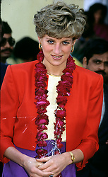 Diana, Princess of Wales during her visit to Lahore, Pakistan in October 1991.
