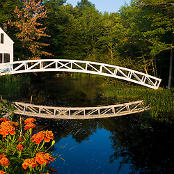 The pedestrian bridge in Somesville on Maine's Mount Desert Island.mOunt Desert Island Historical Society.