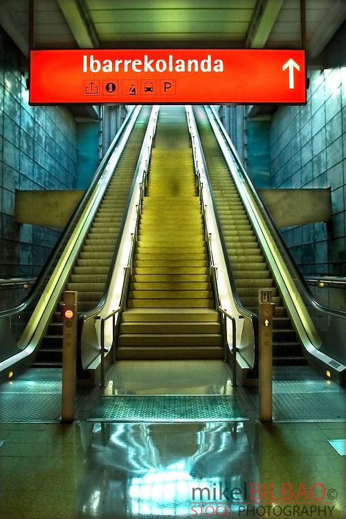 estacion de metro.<br /> Bilbao (Vizcaya)