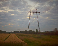Power lines from the night train. Field trip to Rovaniemi. Image taken with a Leica X2 camera (ISO 1600, 24 mm, f/2.8,, 1/1000 sec)