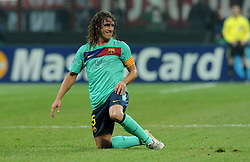 23.11.2011, Giuseppe Meazza Stadion, Mailand, ITA, UEFA CL, Gruppe H, AC Mailand (ITA) vs FC Barcelona (ESP), im Bild Carles PUYOL (Barcellona) // during the football match of UEFA Champions league, group H, between Gruppe H, AC Mailand (ITA) and FC Barcelona (ESP) at Giuseppe Meazza Stadium, Milan, Italy on 2011/11/23. EXPA Pictures © 2011, PhotoCredit: EXPA/ Insidefoto/ Alessandro Sabattini..***** ATTENTION - for AUT, SLO, CRO, SRB, SUI and SWE only *****