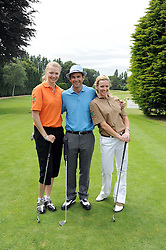 Left to right, JODIE KIDD, DOUGRAY SCOTT and GABBY LOGAN at the Mini Masters Golf tournament in aid of LEUKA - London's first celebrity golf tournament held at Duke's Meadow Golf Club, Dan Mason Drive, London W4 on 14th July 2008.<br /> <br /> NON EXCLUSIVE - WORLD RIGHTS