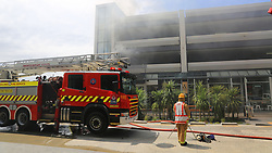 Forty firefighters and 12 fire engines from Auckland stations scrambled to a blaze which broke out at the Newmarket Plaza with the fire being contained to a kitchen and flue shaft, Auckland, New Zealand, Saturday, January 20, 2018. Credit:SNPA / Hayden Woodward **NO ARCHIVING**