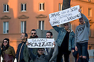 "Roma 12 Dicembre 2015<br /> «La marcia dei diritti», per rompere il silenzio su i diritti di almeno tre milioni di cittadine e cittadini lesbiche, gay, bisessuali, trans, intersessuali, per i diritti delle donne e le unioni etero e omosessuali. Diritti che le leggi dell' Italia continuano a ignorare e a calpestare nonostante le sentenze delle corti italiane e internazionali.<br /> Rome December 12, 2015<br /> ""March of the rights"", to break the silence on the rights of at least three million citizens from lesbian, gay, bisexual, trans, intersex, for the rights of women and heterosexual and homosexual unions.  Rights that the laws of Italy continue to ignore and trample despite the judgments of the Italian  and international courts."
