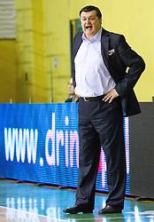 Aco Petrovic (SRB), head coach of Azovmash during basketball match between KK Krka and BC Azovmash Mariupol (UKR) of 4th Round of Regular season of Eurocup 2011/2012 on December 6, 2011, in Arena Leon Stukelj, Novo mesto, Slovenia.  (Photo by Vid Ponikvar / Sportida)