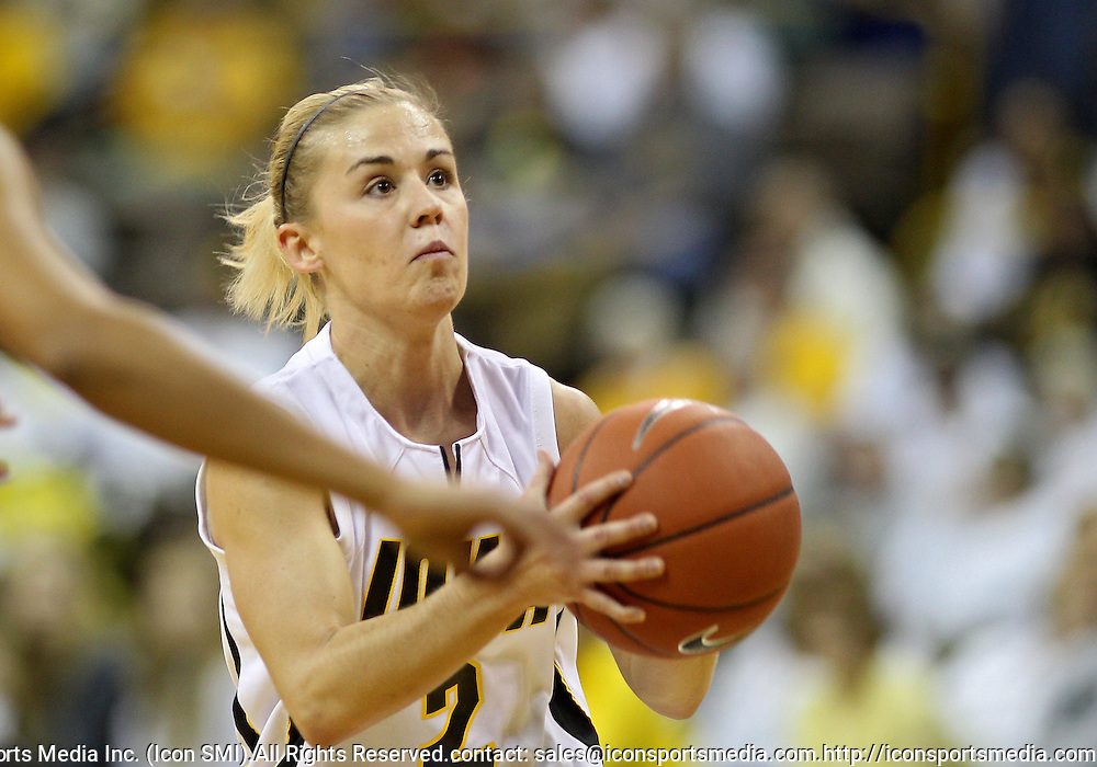December 22 2010: Iowa guard Kamille Wahlin (2) puts up a shot during the first half of an NCAA college basketball game at Carver-Hawkeye Arena in Iowa City, Iowa on December 22, 2010. Iowa defeated Northern Iowa 75-64.