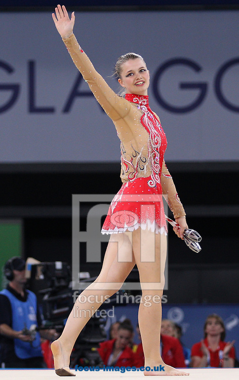 Victoria Clow of Scotland competes in the Team Final &amp; Individual Qualifications during day one of Rhythmic Gymnastics at SSE Hydro, during the Glasgow 2014 Commonwealth Games<br /> Picture by Paul Terry/Focus Images Ltd +44 7545 642257<br /> 24/07/2014