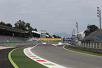 The new Astroturf and tarmac run off at Parabolica.<br /> Italian Grand Prix, Thursday 4th September 2014. Monza Italy.