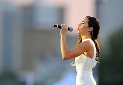 Laura Wright performs the song invincible  - Photo mandatory by-line: Joe Meredith/JMP - Mobile: 07966 386802 - 11/09/14 - The Invictus Opening Ceremony - London - Queen Elizabeth Olympic Park